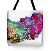 Map Of Hungary-colorful Tote Bag