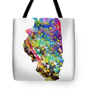 Map Of Illinois-colorful Tote Bag