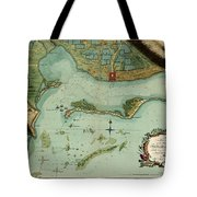 Map Of Jamaica 1756 Tote Bag