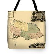 Map Of Jamaica 1763 Tote Bag