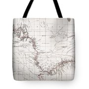 Map Of Livingstones Route Across Tote Bag