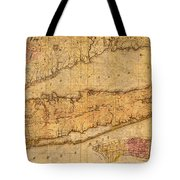 Map Of Long Island New York State In 1842 On Worn Distressed Canvas  Tote Bag
