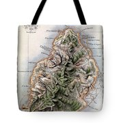 Map Of Mauritius Tote Bag