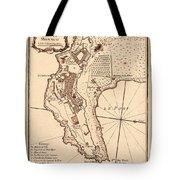 Map Of Monaco 1764 Tote Bag