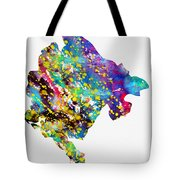 Map Of Montenegro-colorful Tote Bag
