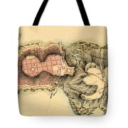 Map Of Montevideo 1808 Tote Bag
