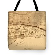 Map Of Montreal 1758 Tote Bag