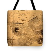 Map Of Nashville 1860 Tote Bag