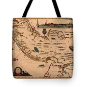 Map Of New Jersey 1672 Tote Bag