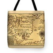 Map Of Newfoundland 1625 Tote Bag