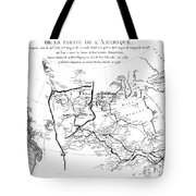 Map Of North America, Plotting The Expeditions Of Sir Alexander Mackenzie In 1789 And 1798 To The Ar Tote Bag