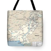 Map Of Pakistan Tote Bag