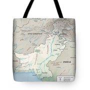 Map Of Pakistan2  Tote Bag