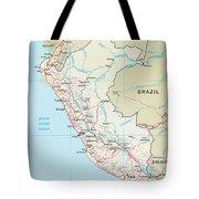 Map Of Peru 2 Tote Bag
