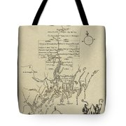 Map Of Plymouth Tote Bag