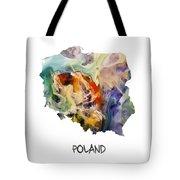 Map Of Poland Original Art Tote Bag
