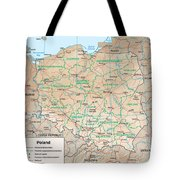 Map Of Poland Tote Bag