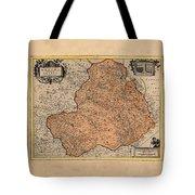 Map Of Rheims 1636 Tote Bag