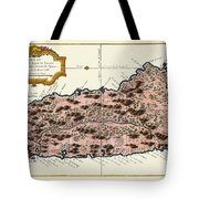 Map Of Saint Lucia 1758 Tote Bag