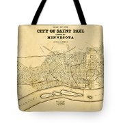 Map Of Saint Paul 1852 Tote Bag