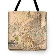 Map Of San Jose 1886 Tote Bag