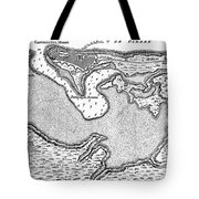 Map Of San Juan, 1766 Tote Bag