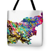 Map Of Slovenia-colorful Tote Bag