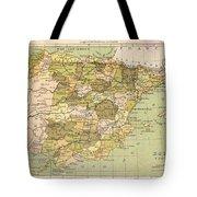 Map Of Spain Tote Bag