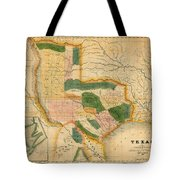 Map Of Texas 1834 Tote Bag