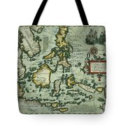 Map Of The East Indies Tote Bag