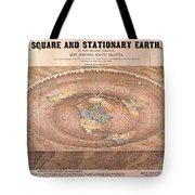 Map Of The Flat Earth Tote Bag