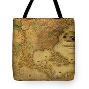 Map Of The United States 1849 Tote Bag