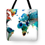 Map Of The World 6 -colorful Abstract Art Tote Bag