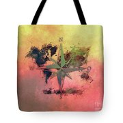Map Of The World Wind Rose 1 Tote Bag