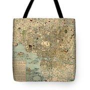 Map Of Tokyo 1854 Tote Bag