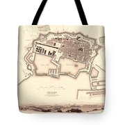 Map Of Toulon 1840 Tote Bag