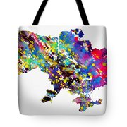 Map Of Ukraine-colorful Tote Bag