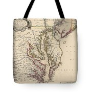 Map Of Virginia And Maryland Tote Bag