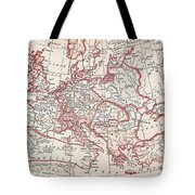 Map: Thirty Years War Tote Bag