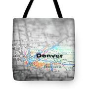Map View For Travel To Locations And Destinations Tote Bag