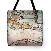 Map: West Indies Tote Bag