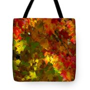 Maple Abstract Tote Bag