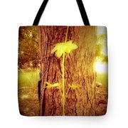 Maple Branch Growing From Trunk Tote Bag