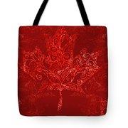 Maple Leaf Filigree Pattern Tote Bag