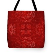 Maple Leaf Filigree Tiled Pattern Tote Bag