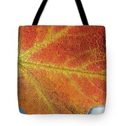 Maple Leaf On Water Tote Bag