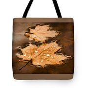 Maple Leaves And Drops Pnt Tote Bag