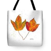 Fall Maple Leaves Tote Bag
