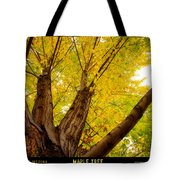 Maple Tree Poster Tote Bag