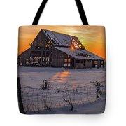 Mapleton Barn Tote Bag by Wesley Aston